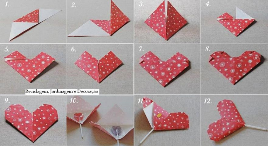How to make a heart lollipop package for kids step by step DIY ...